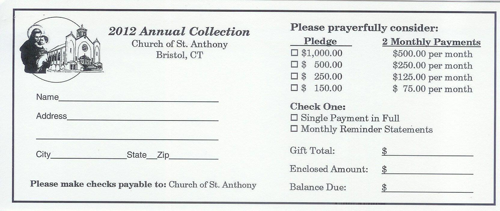 Pinandrew Martin On Pledge Cards   Fundraising regarding Building Fund Pledge Card Template