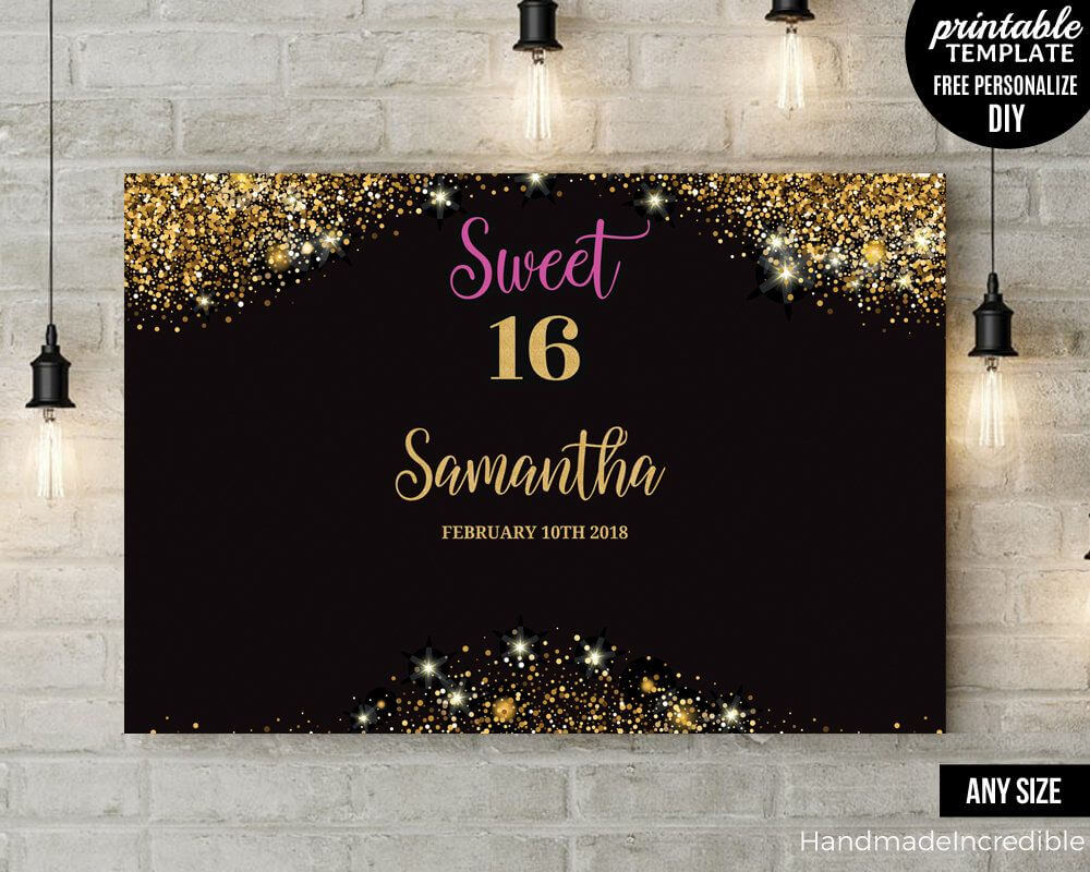 Pinargelia Figueroa On Birthday Party Ideas In 2019 for Sweet 16 Banner Template
