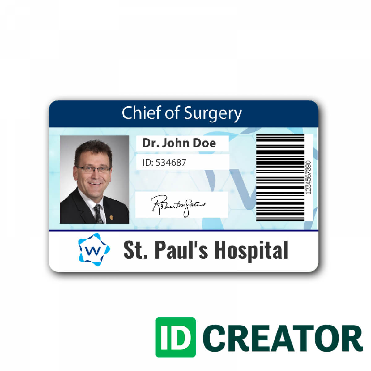 Pinblue Heron On /en/ | Id Card Template, Cards, Name within Hospital Id Card Template