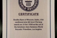 Pinbrad Byers On Brad Byers World Record Certificates intended for Guinness World Record Certificate Template