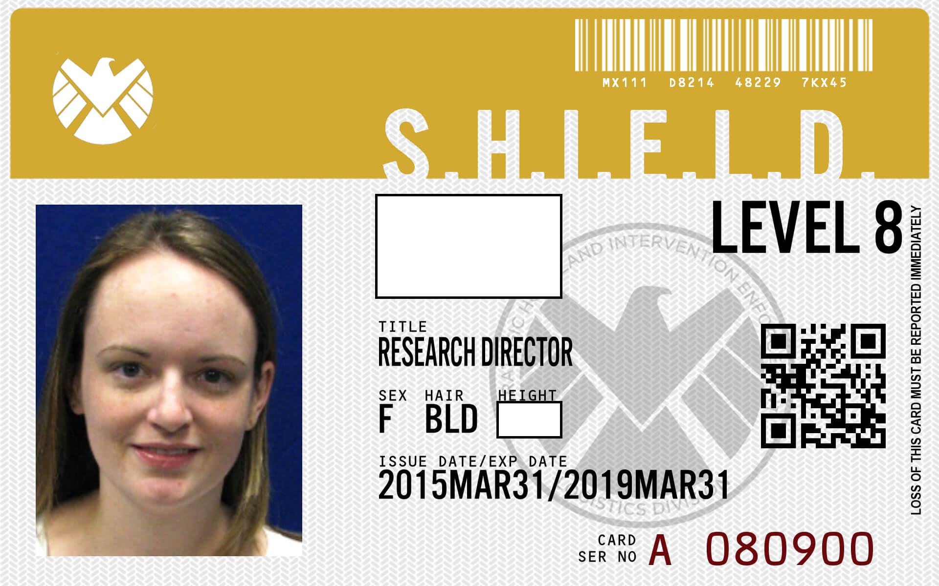 Pinbrooklynn Meyer On Awesome   Agents Of Shield, Spy throughout Shield Id Card Template