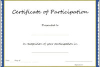 Pinclaire Donaldson On Forms | Training Certificate within Certificate Of Participation Template Pdf