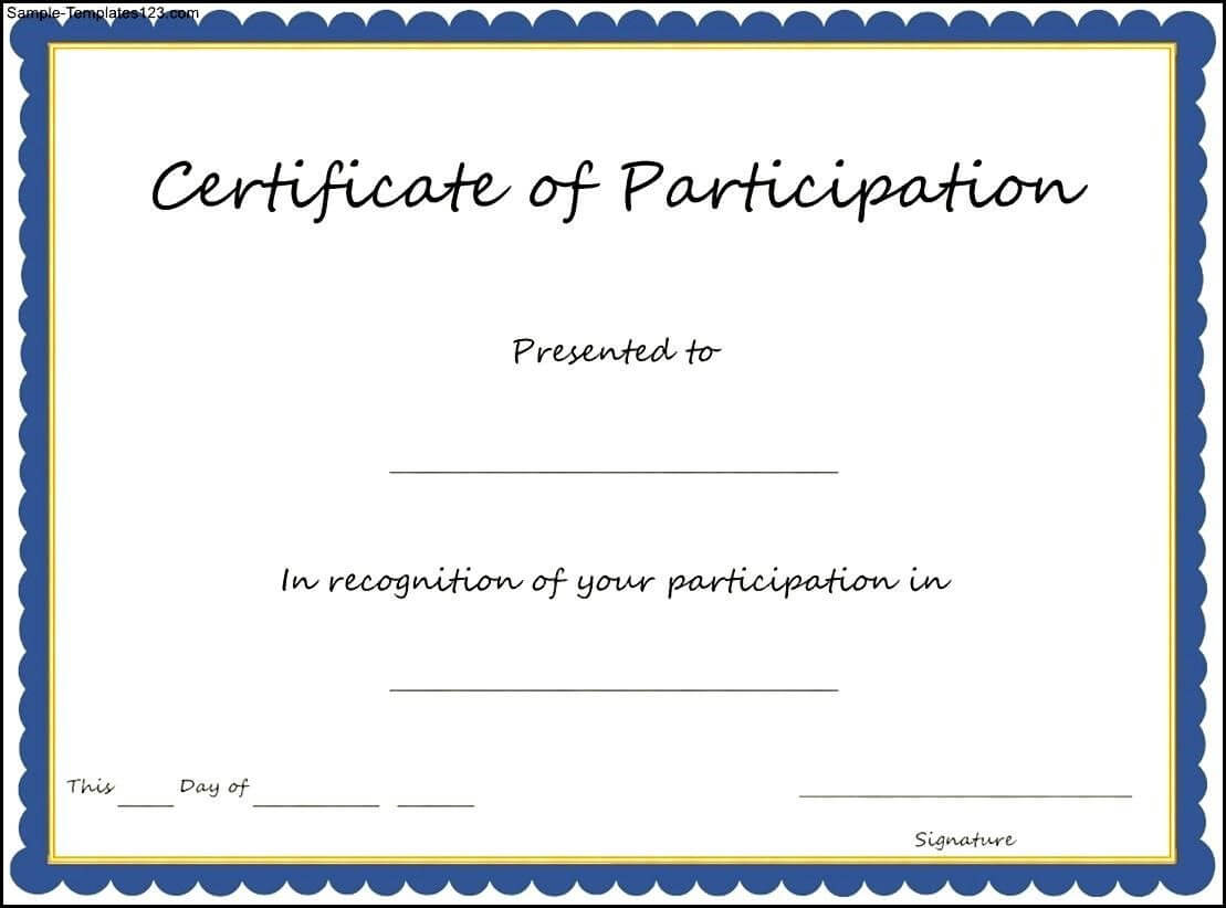 Pincristina Nava On Career Day | Certificate Of Intended For Sample Certificate Of Participation Template