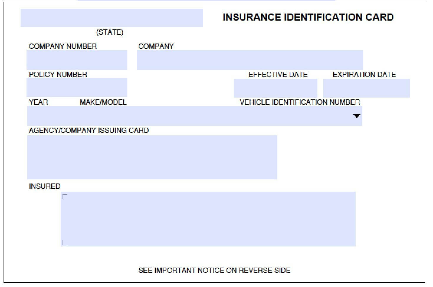 Pindinding 3D On Remplates And Resume In 2019 | Car Pertaining To Auto Insurance Id Card Template