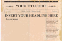 Pindollarcool On Ideas | Newspaper Template Word, Blank inside Blank Newspaper Template For Word