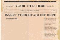 Pindollarcool On Ideas | Newspaper Template Word, Blank with Old Blank Newspaper Template