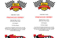 Pinewood Derby Flyers – The Gospel Home intended for Pinewood Derby Certificate Template