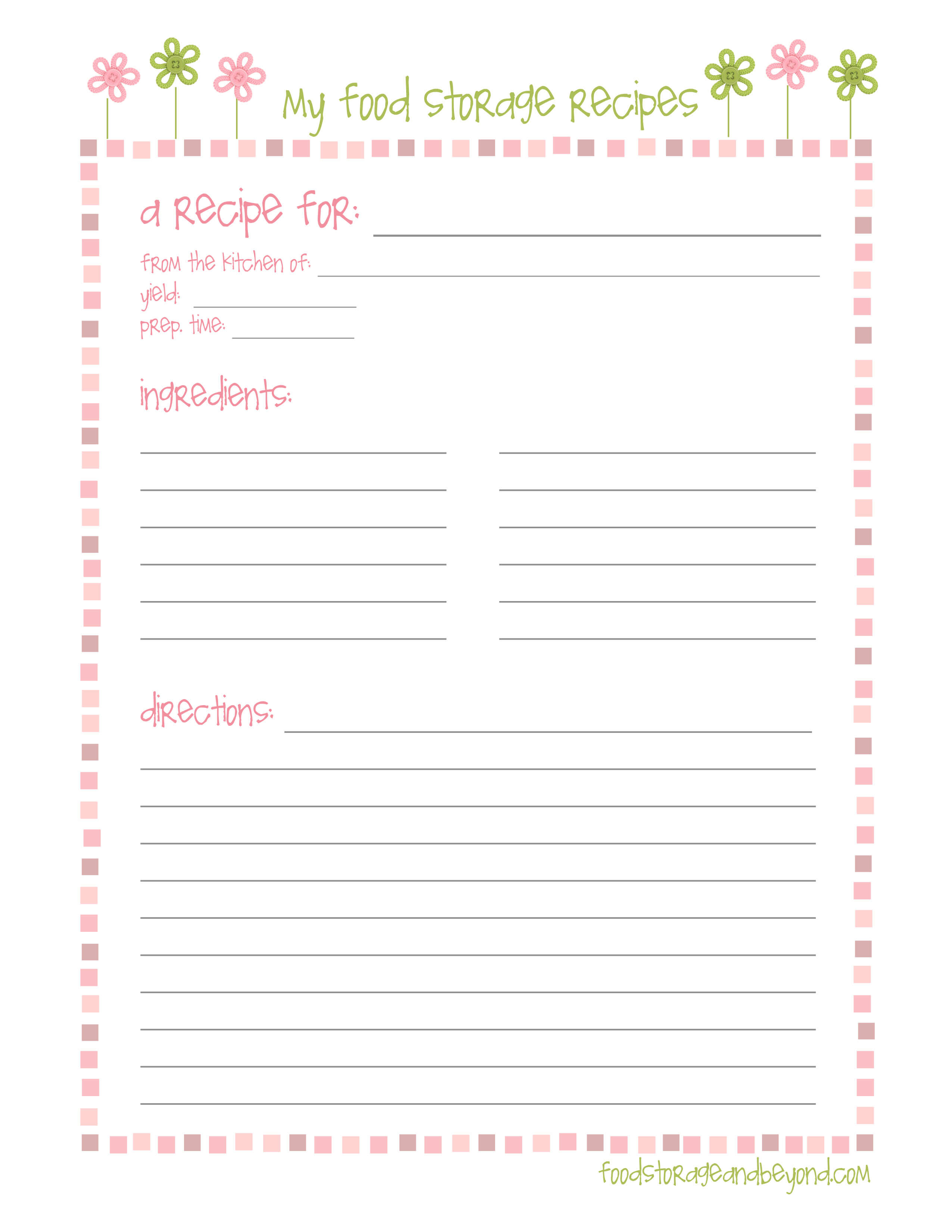 Pinjill Ortago On Happy Planning! | Printable Recipe regarding Fillable Recipe Card Template
