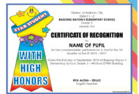 Pinjomareguid On School | Certificate Of Recognition within Classroom Certificates Templates