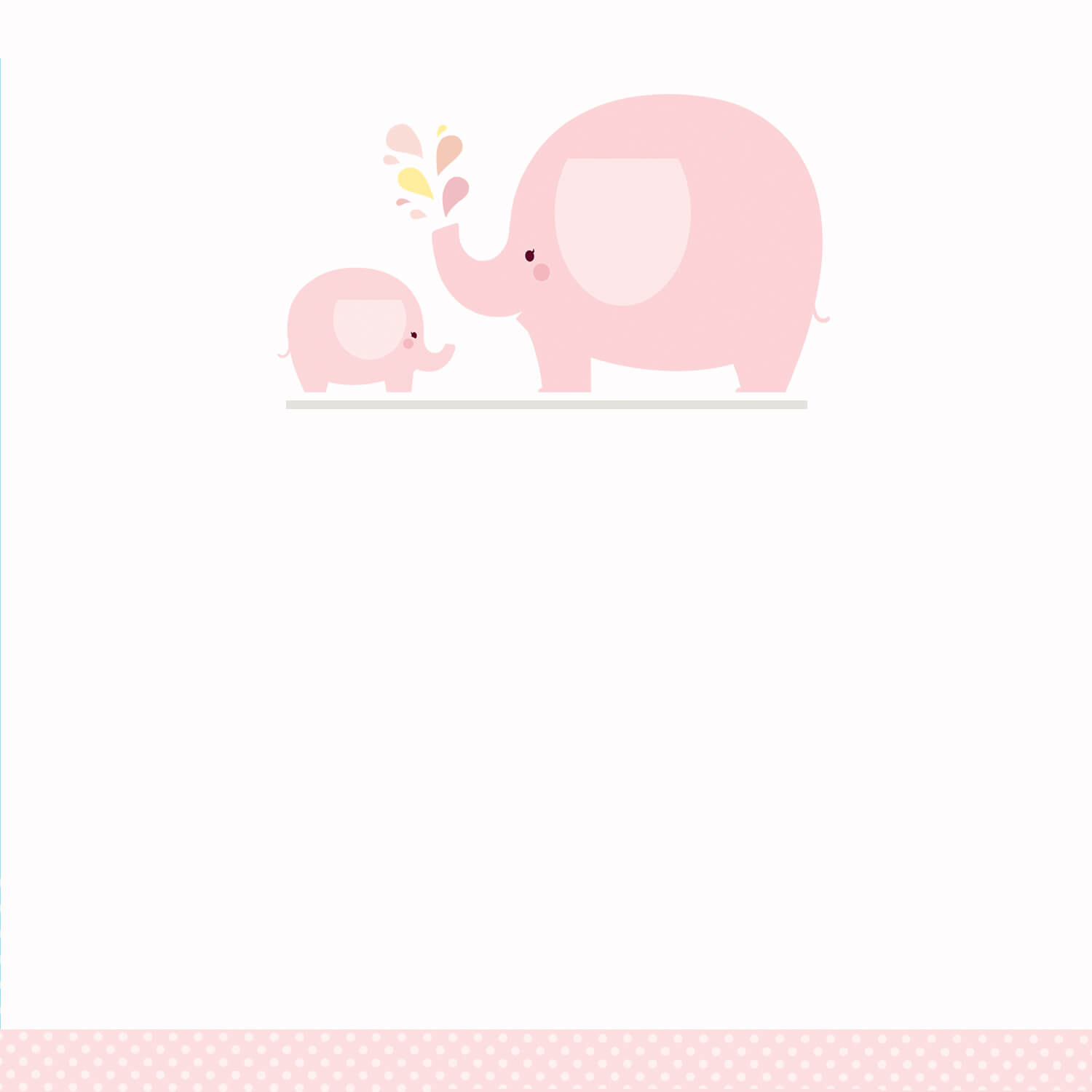 Pink Baby Elephant – Baby Shower Invitation Template (Free With Regard To Blank Elephant Template