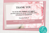 Pink Carnation Funeral Thank You Note – Funeral Template regarding Thank You Card Template Word