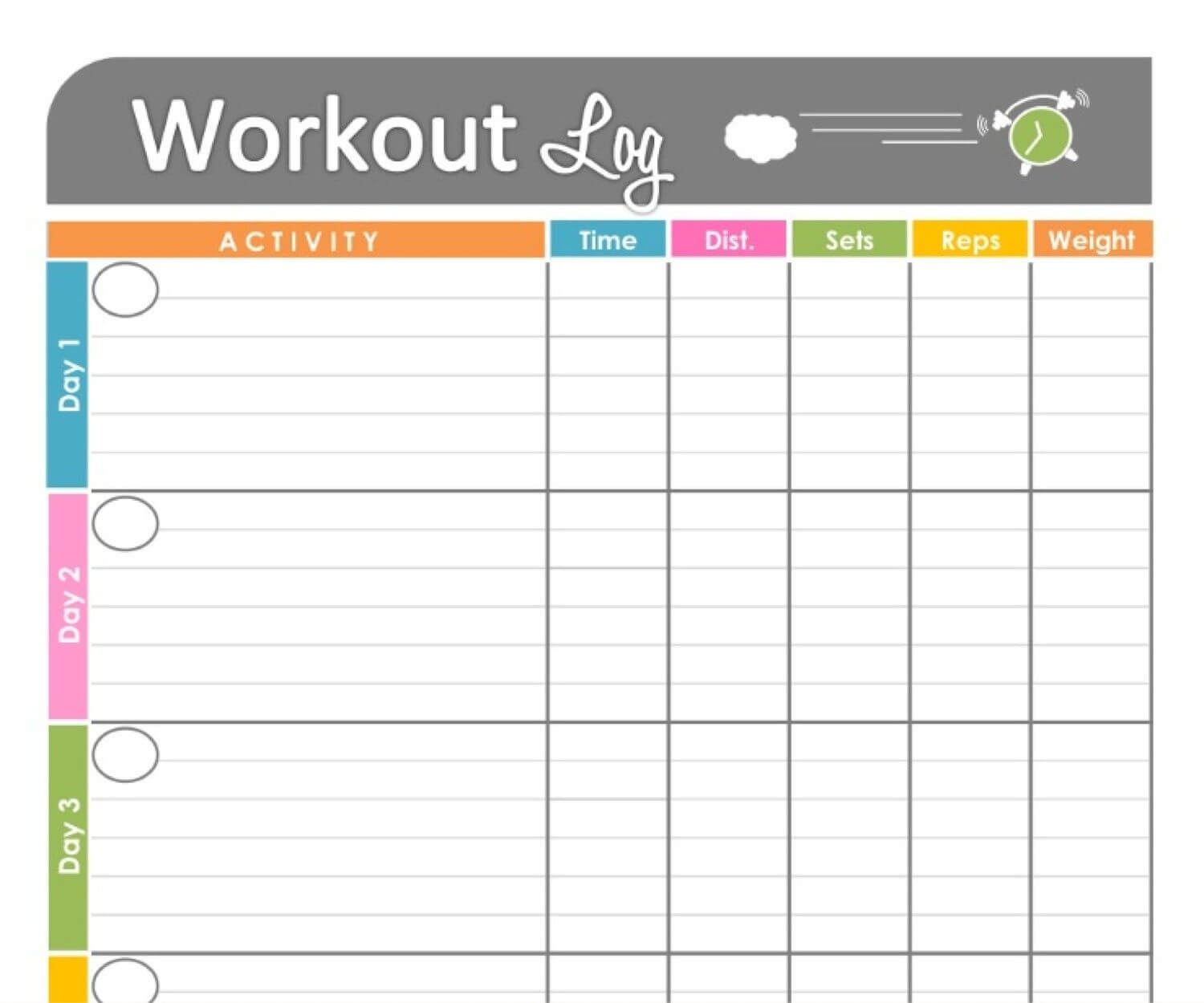 Pinkristy Winburn-Revels On School Planners & Supplies with Blank Workout Schedule Template