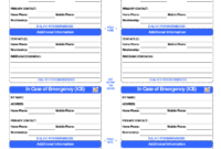 Pinlola Gambino On College Tips | Id Card Template, In regarding Emergency Contact Card Template