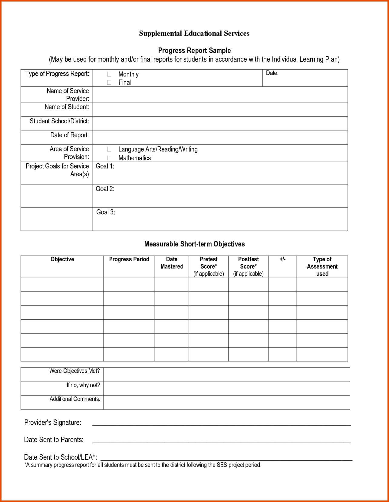 Pinmaricarl Carranza On Sample Progress Report For School Progress Report Template