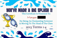 Pinmarwa Mattar On Swimming | Swimming Lessons For Kids Inside Swimming Award Certificate Template
