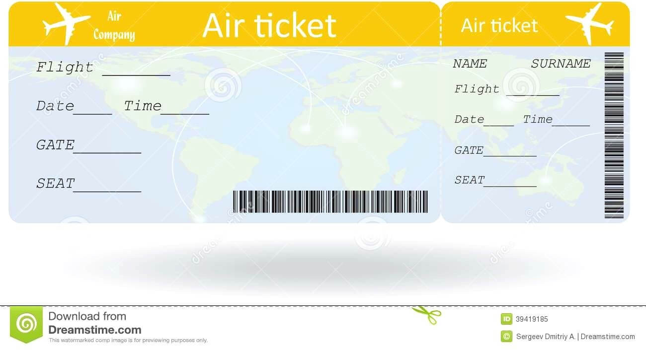 Pinpat Zema On French | Ticket Template, Ticket Template pertaining to Plane Ticket Template Word