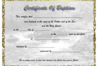 Pinselena Bing-Perry On Certificates | Certificate regarding Christian Baptism Certificate Template
