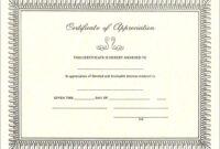Pintreshun Smith On 1212   Certificate Of Appreciation intended for Certificate Of Appreciation Template Free Printable