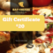 Pizzeria Restaurant Gift Certificate Template | Free for Pizza Gift Certificate Template