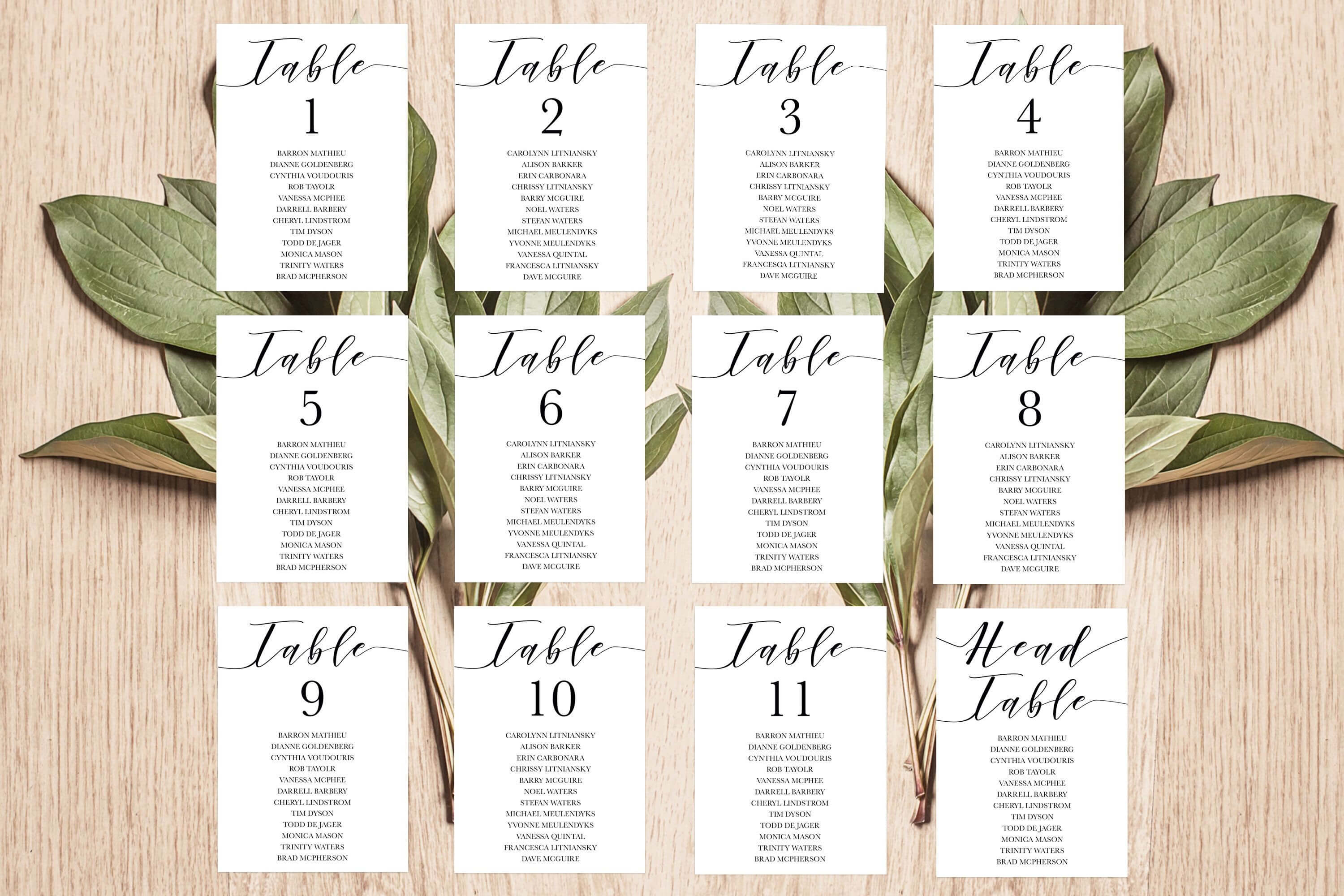 Place Card Template, Table Number Template, Seating Chart With Regard To Printable Escort Cards Template