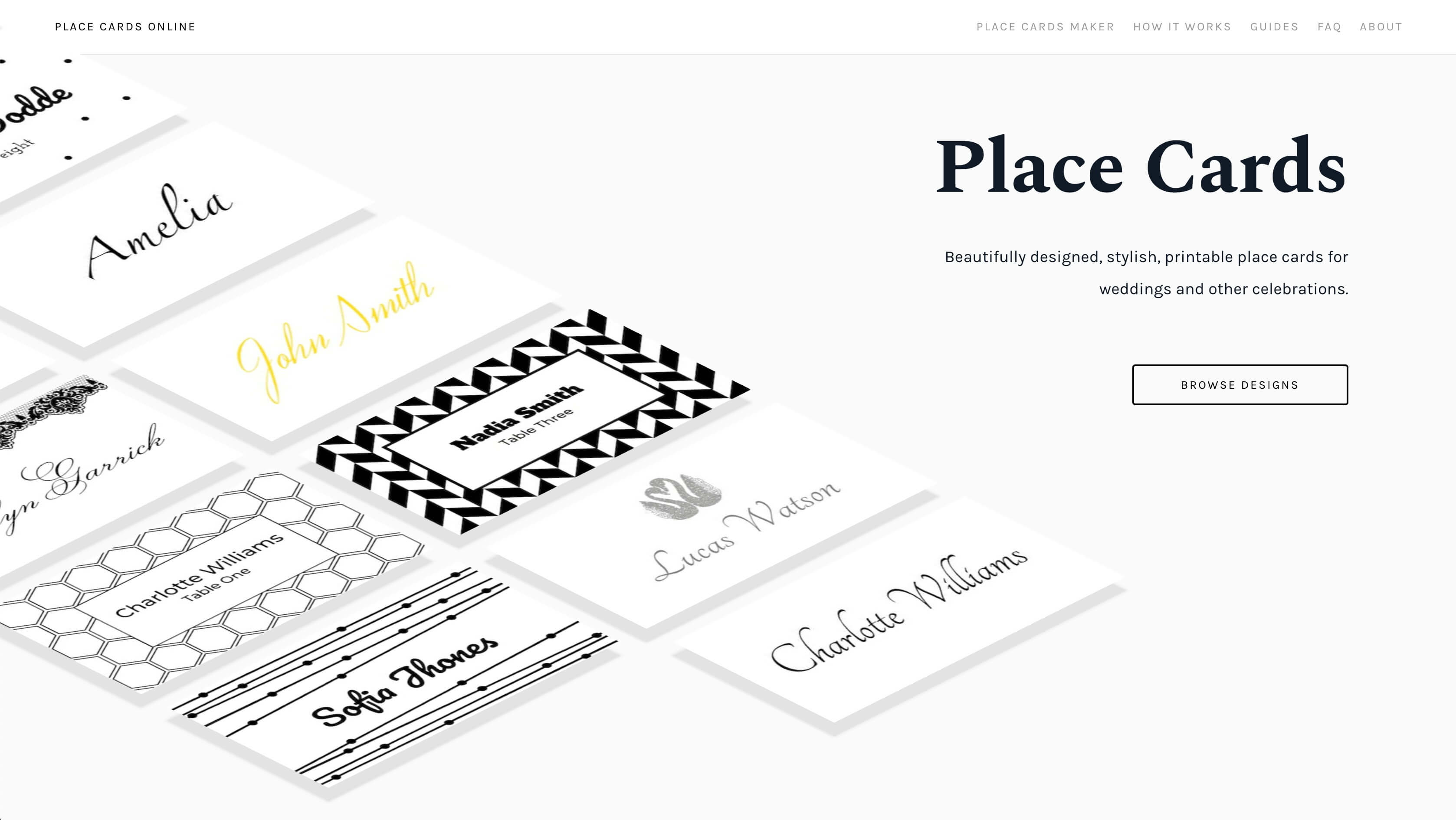 Place Cards Online - Place Cards Maker. Beautifully Designed with regard to Celebrate It Templates Place Cards