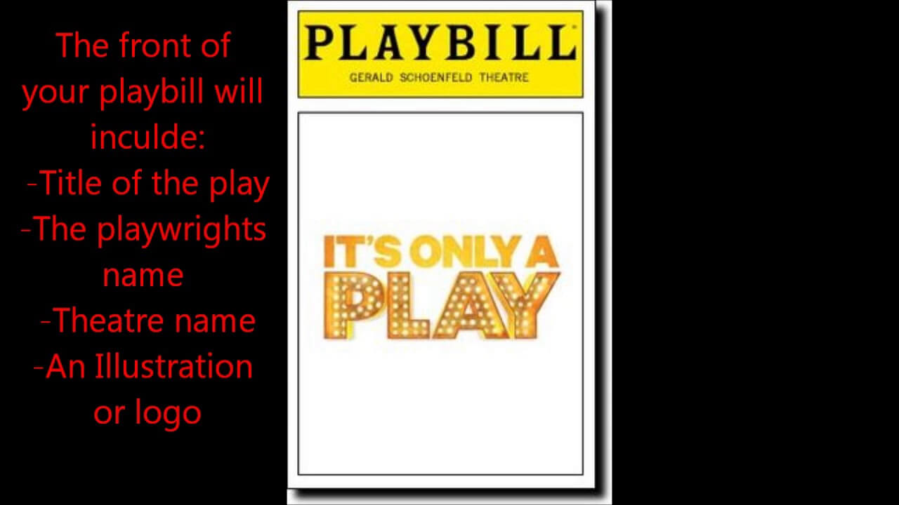 Playbill Project - Youtube Intended For Playbill Template Word