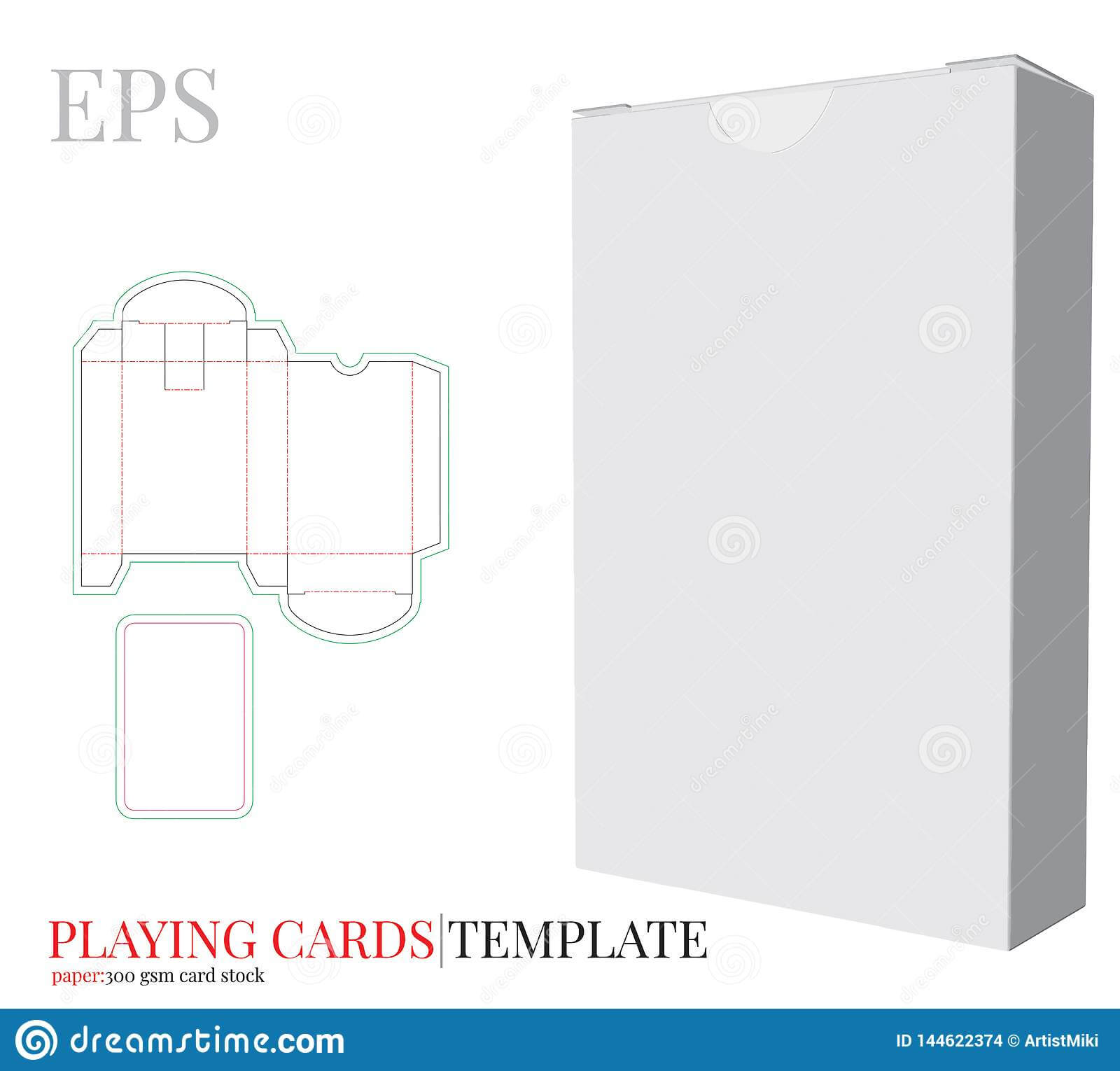 Playing Cards Template And Playing Cards Box Template Vector Pertaining To Blank Playing Card Template