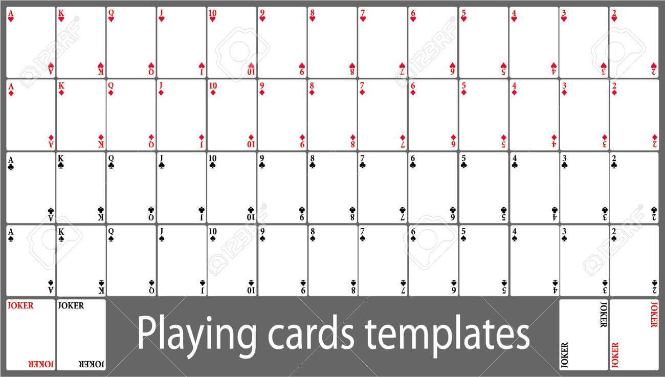 Playing Cards Template Set Pertaining To Deck Of Cards Template