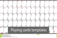 Playing Cards Template Set Stock Vector. Illustration Of throughout Deck Of Cards Template