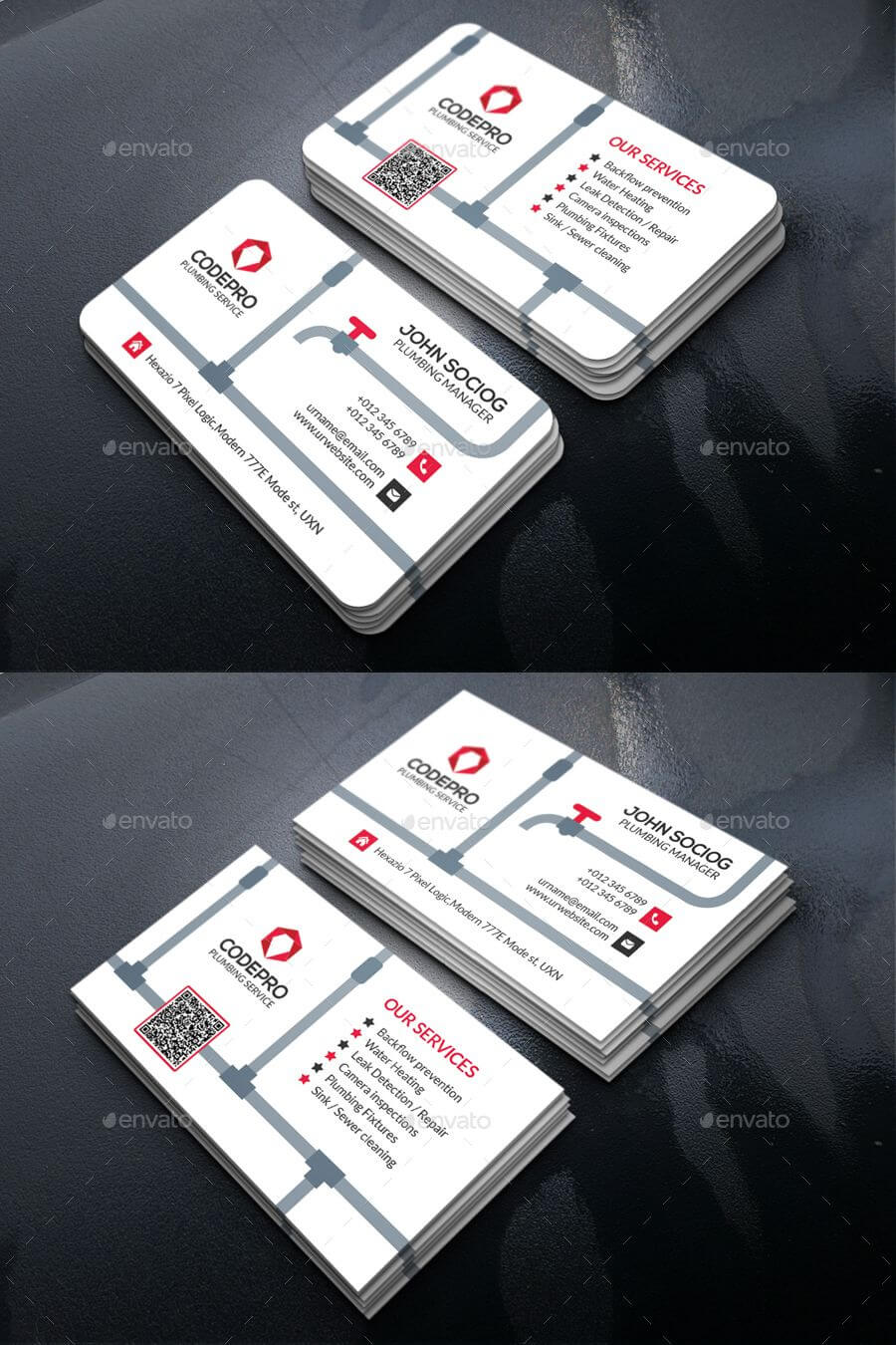 Plumbing Business Card Template Psd | Business Card Design Regarding Business Card Maker Template
