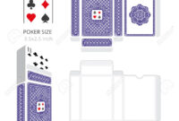 Poker Card Size Tuck Box Template.vector Illustration Ready Design.. pertaining to Playing Card Design Template