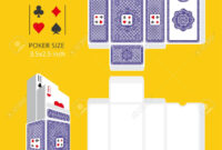 Poker Card Size Tuck Box Template.vector Illustration Ready Design.. with Playing Card Design Template