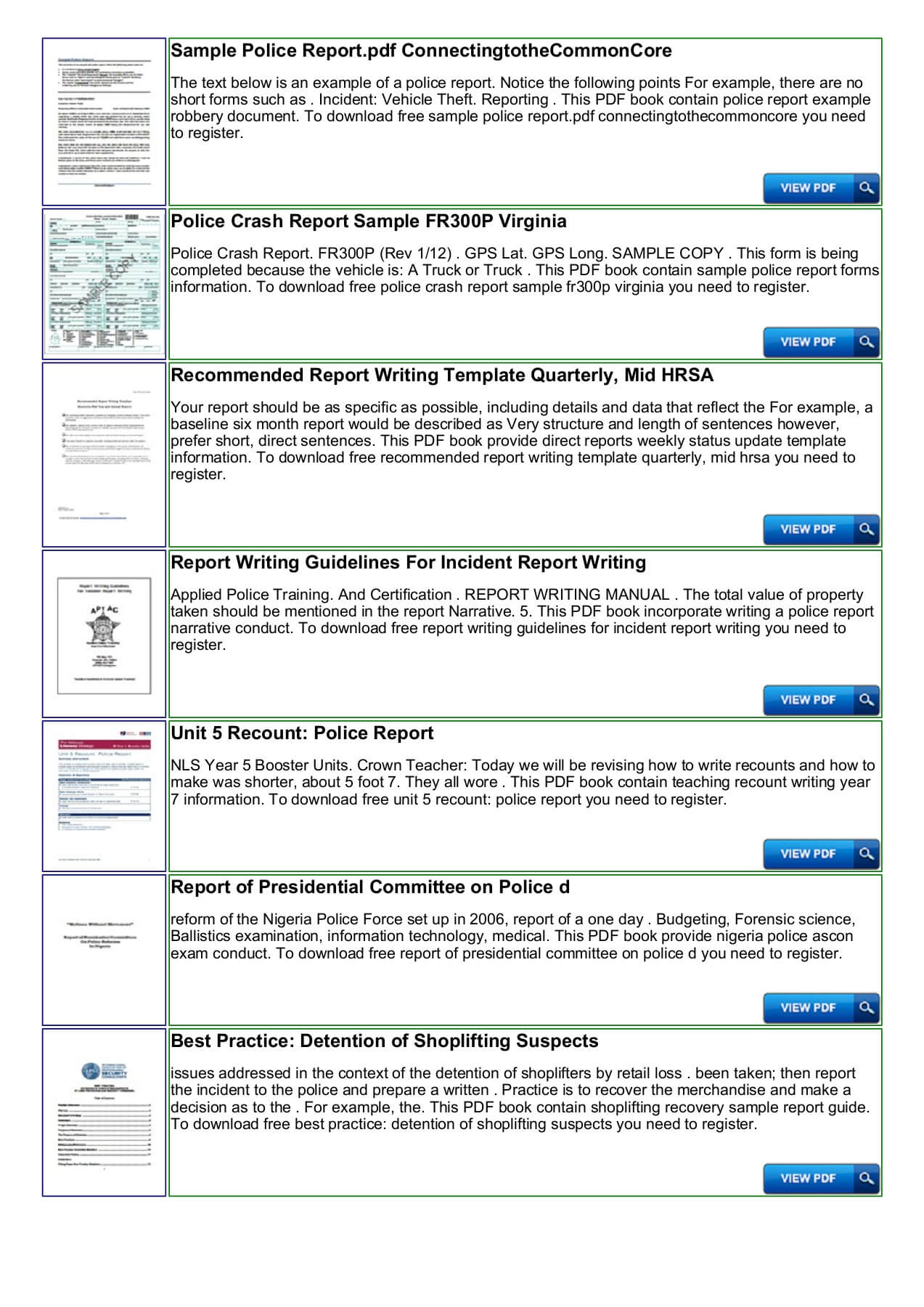 Police Shoplifting Report Writing Template Sample Pages 1 intended for Report Writing Template Free