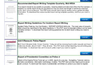 Police Shoplifting Report Writing Template Sample Pages 1 throughout Baseline Report Template