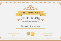 Polished Design Certificate For Powerpoint | Free with Powerpoint Award Certificate Template