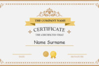 Polished Design Certificate For Powerpoint Inside Certificate Of Participation Template Ppt