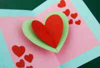 Pop Up Card (Floating Heart) – How To Make A Mini Greeting Card With A Pop  Out Heart – Ezycraft throughout Pop Out Heart Card Template