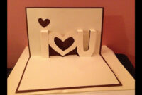 Pop Up Cards – I Love You Pop Up Card – Youtube with regard to I Love You Pop Up Card Template