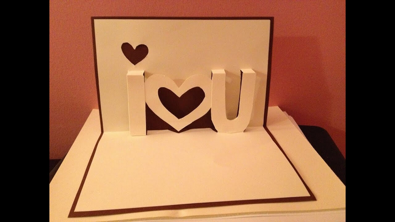 Pop Up Cards - I Love You Pop Up Card - Youtube with regard to I Love You Pop Up Card Template