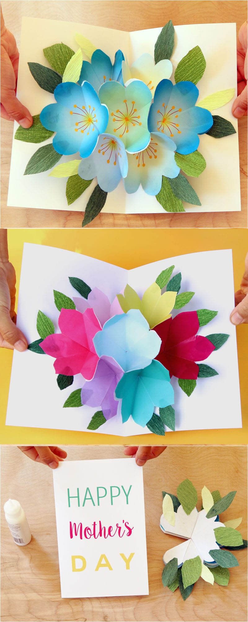 Pop Up Flowers Diy Printable Mother's Day Card - A Piece Of pertaining to Diy Pop Up Cards Templates