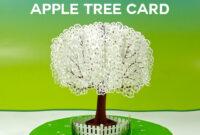 Pop-Up Paper Apple Tree Card (3D Sliceform) – Jennifer Maker pertaining to Diy Pop Up Cards Templates