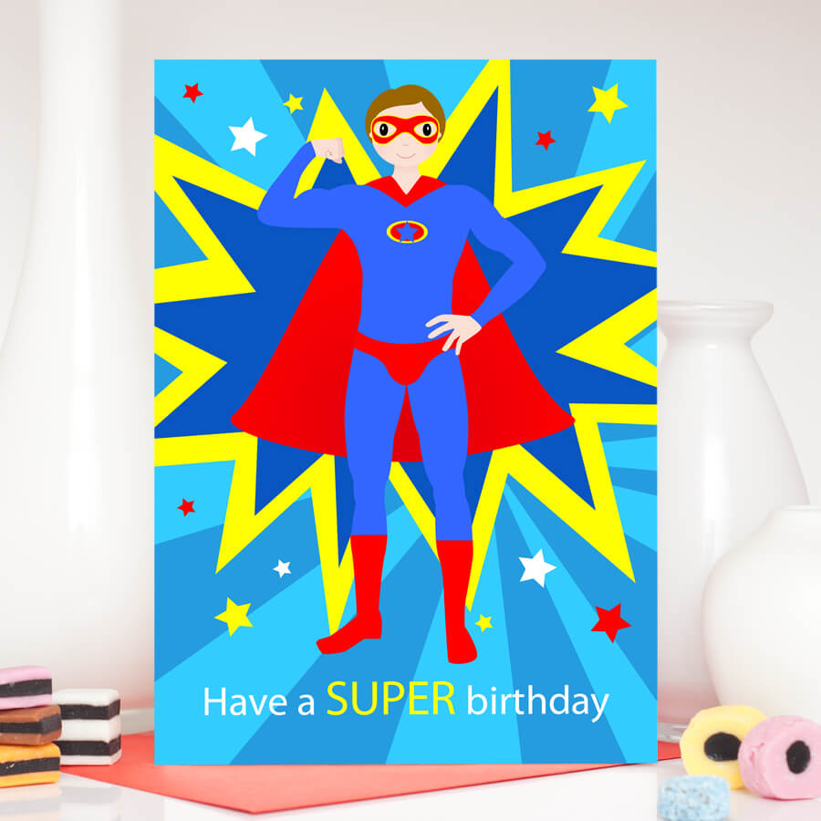 Popular Superhero Birthday Greetings &nu09 in Superman Birthday Card Template