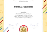 Portrait Certificate Template In Football Sport Intended For Football Certificate Template