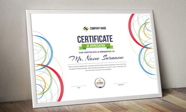 Poseidon Landscape Certificate Template | Stationary with Landscape Certificate Templates