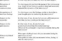 Possible Debriefing Topics (Onwuegbuzie Et Al., 2008) And with Debriefing Report Template
