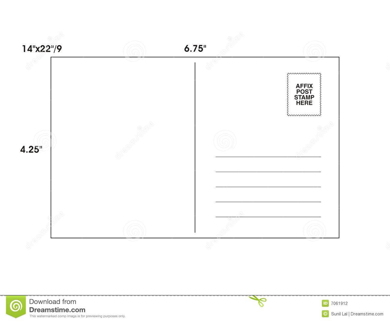 Post Card Template - Vector Stock Illustration within Post Cards Template