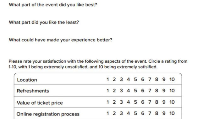 Post-Event Survey Tips And Template - Qgiv Success Center for Event Survey Template Word