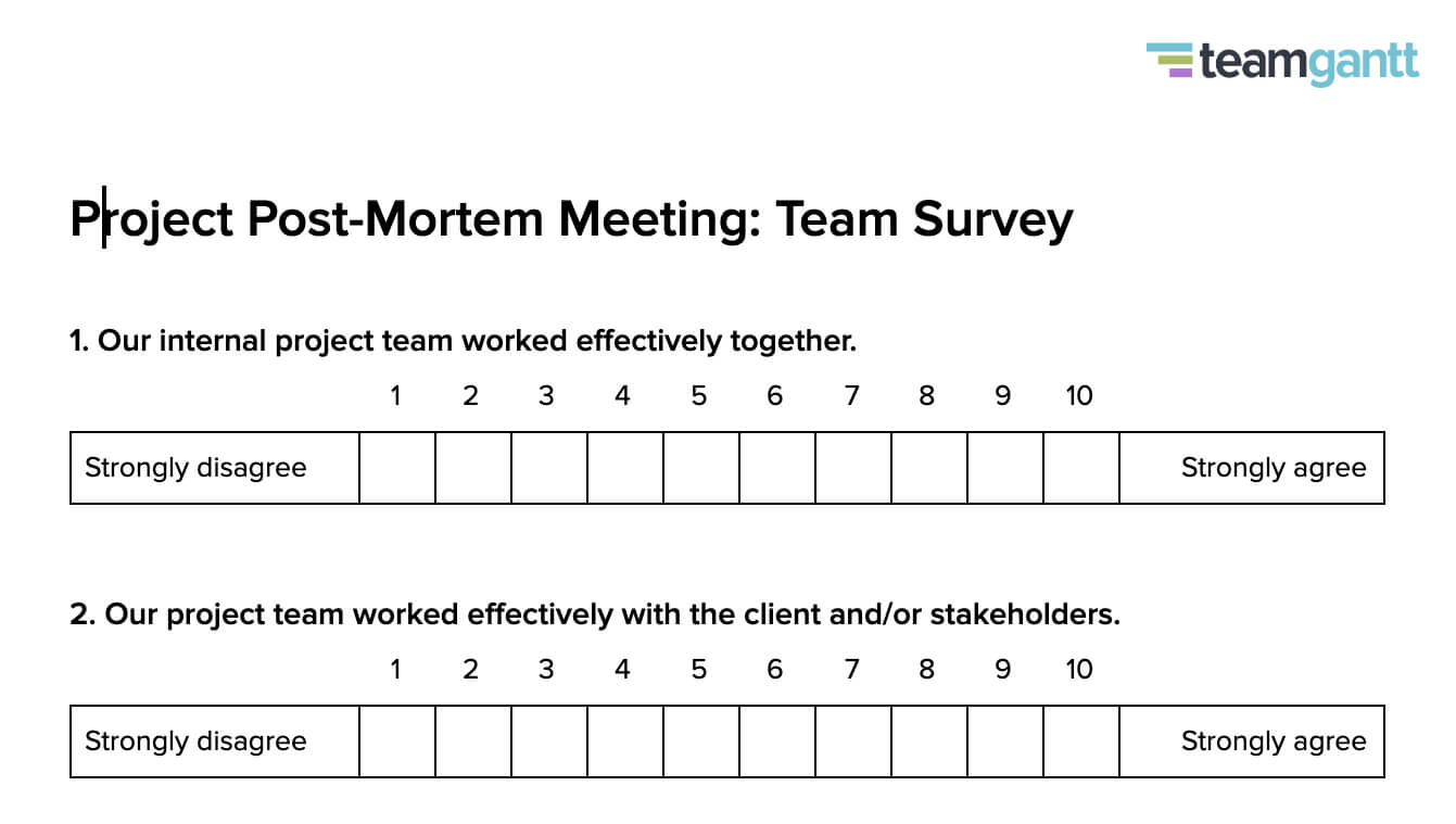 Post Mortem Meeting Template And Tips   Teamgantt With Regard To Autopsy Report Template