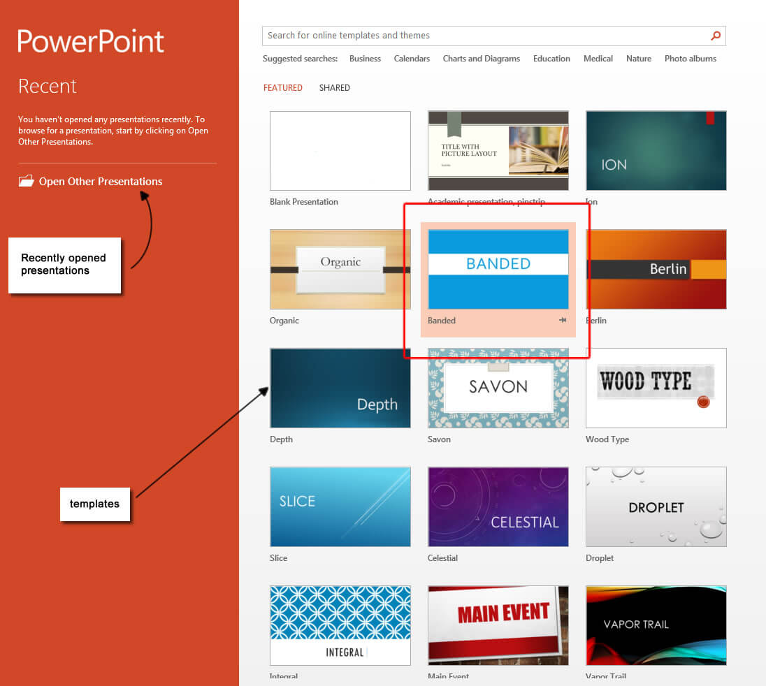 Powerpoint 2013 Templates – Microsoft Powerpoint 2013 Tutorials for What Is Template In Powerpoint