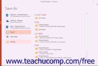 Powerpoint 2016 Tutorial Saving A Presentation Template Microsoft Training pertaining to How To Save A Powerpoint Template